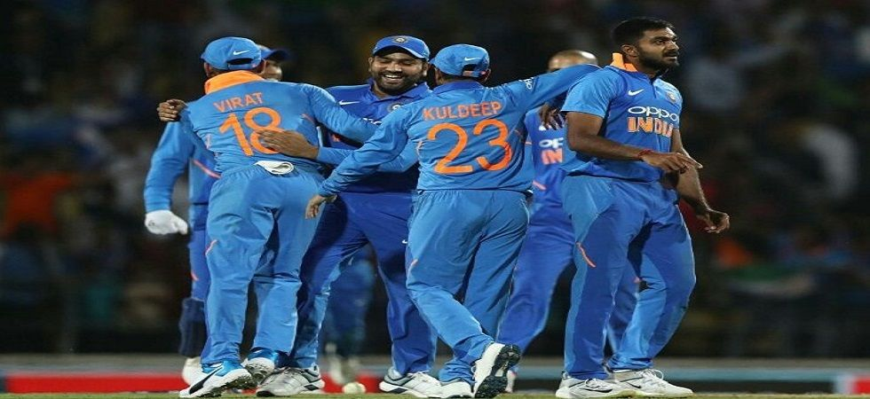 Vijay Shankar picked up two wickets in the final over as India clinched the Nagpur ODI by eight runs against Australia. (Image credit: Twitter)