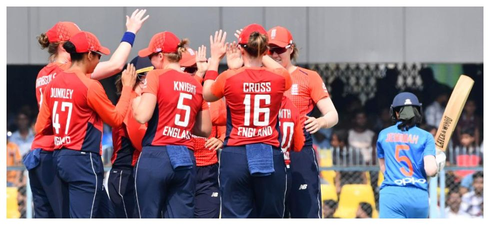 England women held their nerve as they won by one run to whitewash India 3-0 in the Twenty20 International series. (Image credit: ICC Twitter)