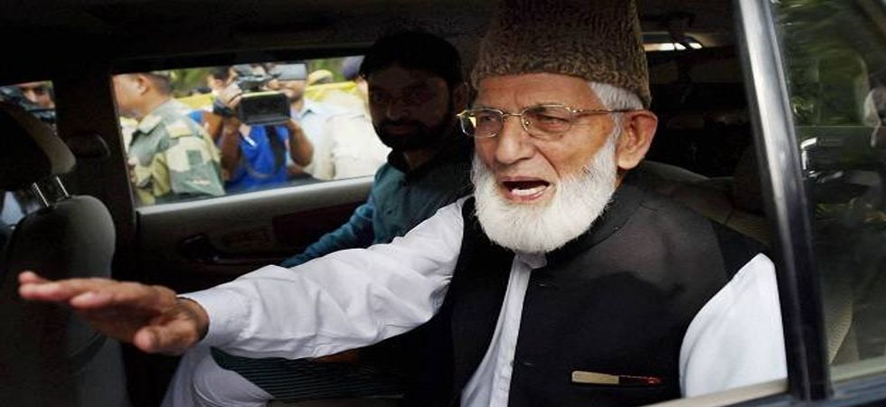 The most important member of the Jamaat-e-lslami Jammu and Kashmir in the Hurriyat Conference is Syed Ali Shah Geelani. (File Photo)