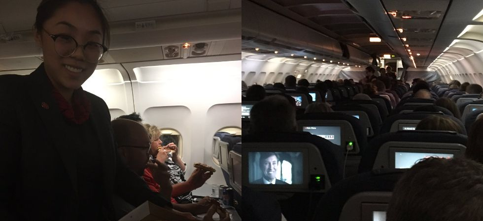 Air Canada pilot orders pizza for stranded passengers./ Image: Twitter