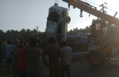 6 of a family die after car falls into canal in Tamil Nadu's Coimbatore
