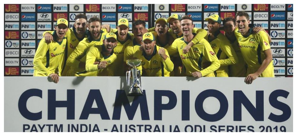 Australia notched up their first win in India since 2009 while they won a series for the first time after trailing 0-2 in the five-match series. (Image credit: ICC Twitter)