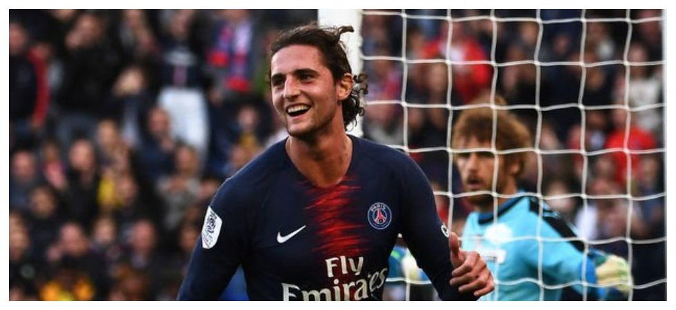 Adrien Rabiot has been suspended after he visited a nightclub following Paris Saint-Germain's elimination from the UEFA Champions League. (Image credit: Twitter)