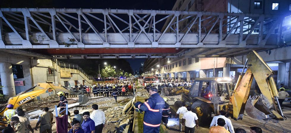BMC has ordered suspension of two officials who supervised the structural audit work and repair work of the bridge. (Image Credit: PTI)
