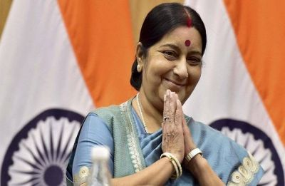 Alone in 2009, India has worldwide support in 2019: Sushma hits back at Rahul over Jaish chief banning issue