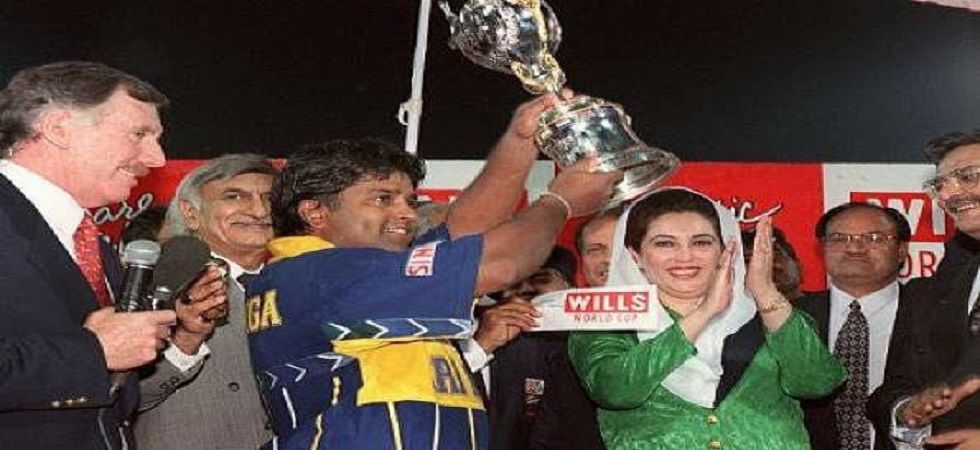 Arjuna Ranatunga galvanised Sri Lanka as they defeated Australia in the final of the 1996 World Cup in Lahore. (Image credit: Twitter)