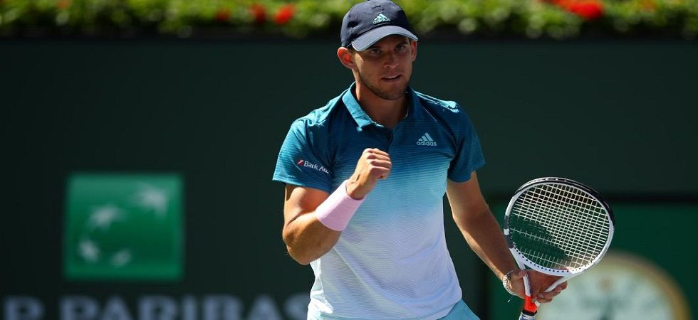Dominic Thiem secured his first-ever win over Milos Raonic to enter the Indian Wells ATP Final where he will face Roger Federer. (Image credit: Twitter)