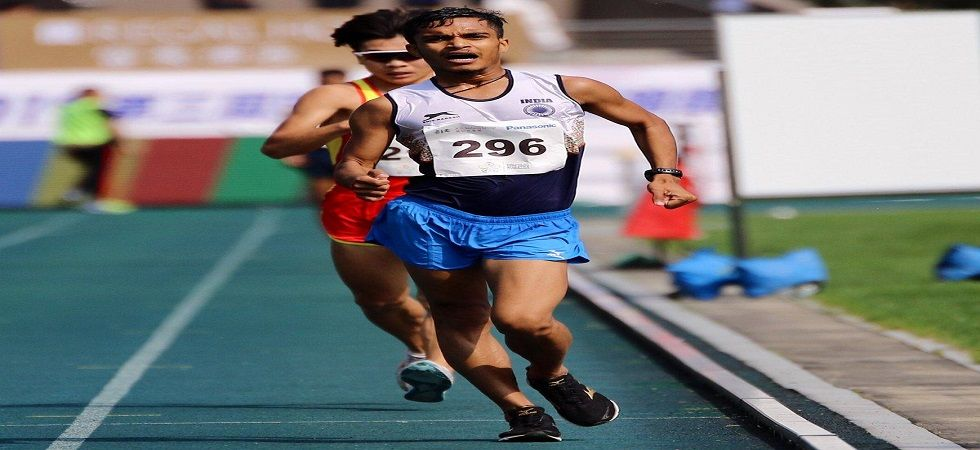 Vishvendra Singh broke the championship record with a timing of 44:09.75 in 10000m Race Walk (Image Credit: Twitter)