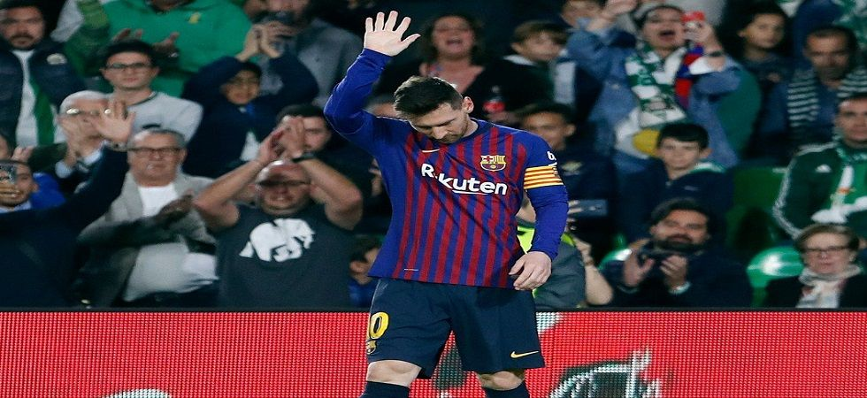 Lionel Messi slammed a brilliant hat-trick as Barcelona came closer to the La Liga title with a brilliant win over Real Betis. (Image credit: FC Barcelona Twitter)