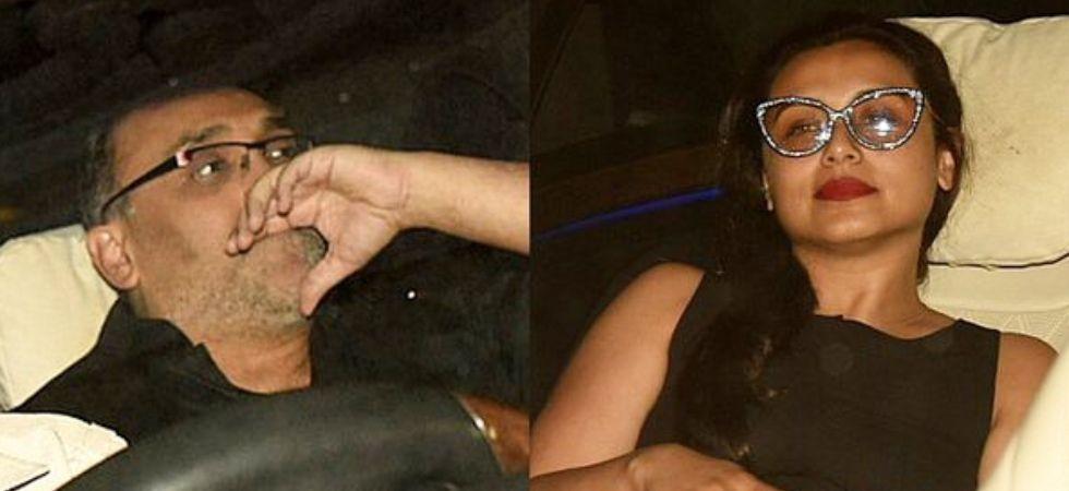 Aditya Chopra finally got clicked with Rani Mukerji outside Karan Johar's house./ Image: Instagram