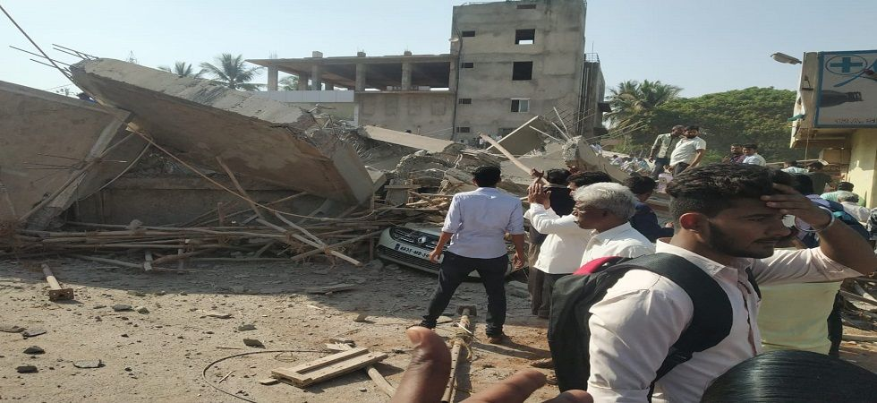 Under-construction building collapses in Karnataka's Dharwad many feared trapped