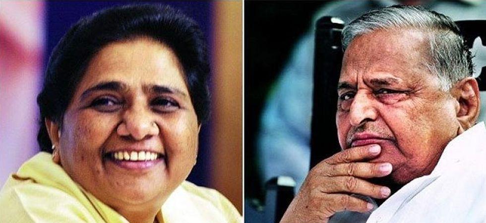 BSP supremo Mayawati (Left), SP founder Mulayam Singh Yadav (Right)