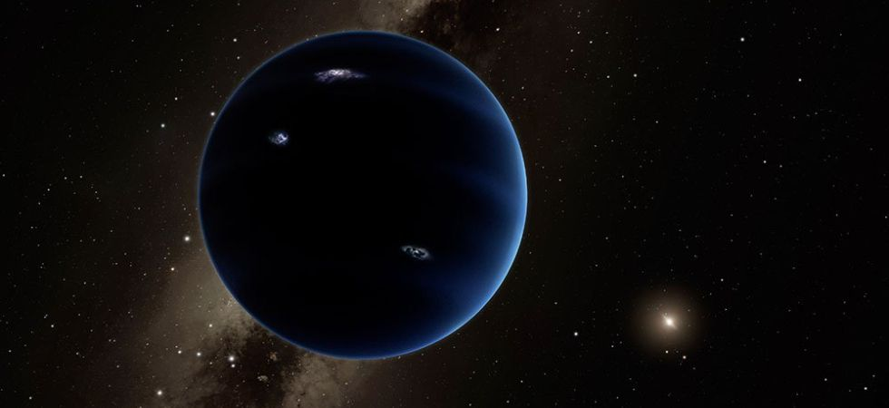 This artistic rendering shows the distant view from Planet Nine back towards the sun. (Photo courtesy: Caltech)