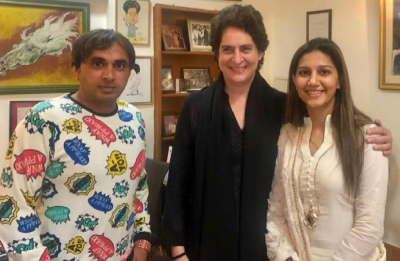 Priyanka Gandhi Vadra meets Sapna Choudhary: Will singer-dancer take on Hema Malini?