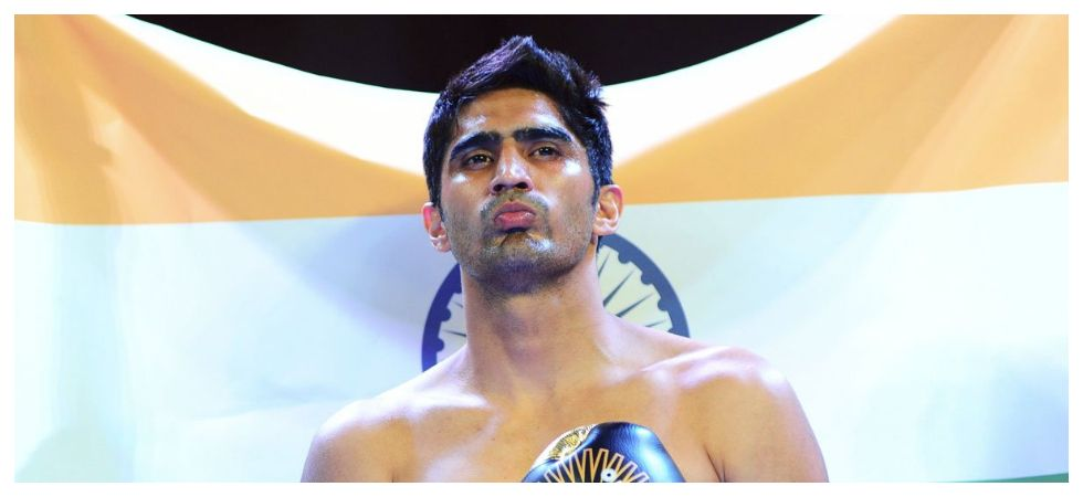 Vijender Singh turned professional in 2015 and was set to make his US Pro Boxing debut in April. (Image credit: Twitter)