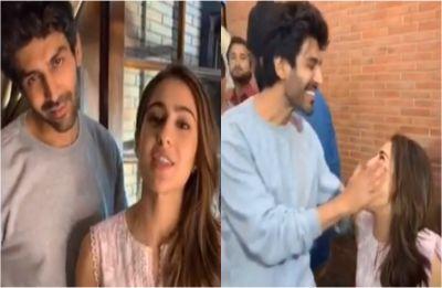 Watch: Sara Ali Khan yells Kartik Aaryan's name in public, actor's reaction is PRICELESS!