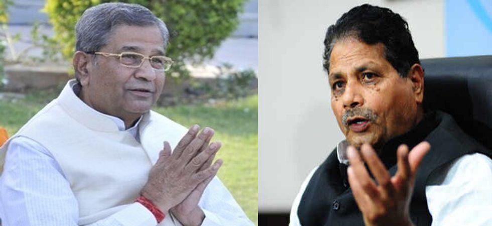 Former BJP leaders Ghanshyam Tiwari and Surendra Goyal