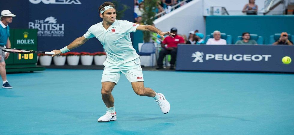Roger Federer made progress in the Miami Open but he faces Russia's Daniil Medvedev, who is ranked No.15 in the world. (Image credit: ATP Tour Twitter)