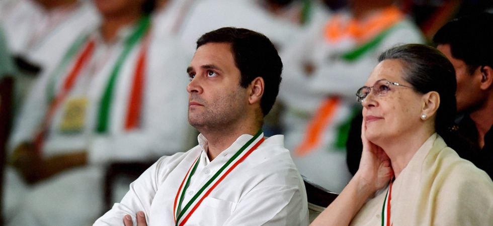 Congress president Rahul Gandhi will again contest elections from Uttar Pradesh's Amethi Lok Sabha seat whereas UPA chairperson Sonia Gandhi will fight from Rae Bareli. (File photo: PTI)