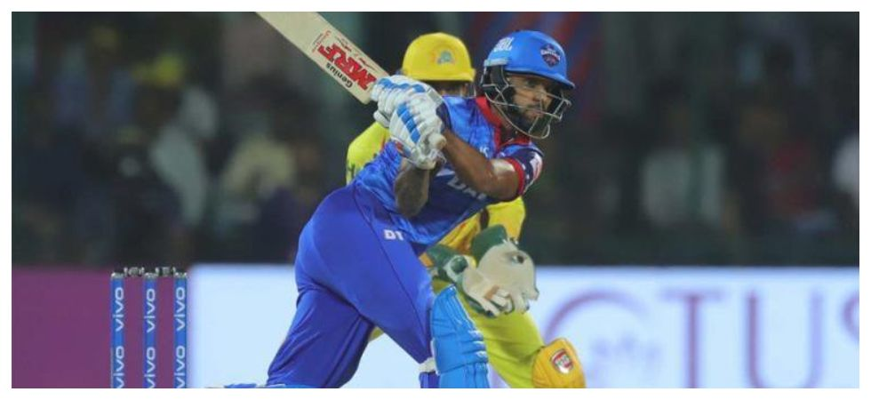 Shikhar Dhawan notched up his 33rd fifty but consumed 47 balls in Delhi Capitals' loss to Chennai Super Kings in IPL 2019. (Image credit: Twitter)