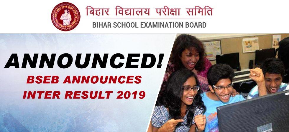BSEB Bihar Board 12th Intermediate Result 2019