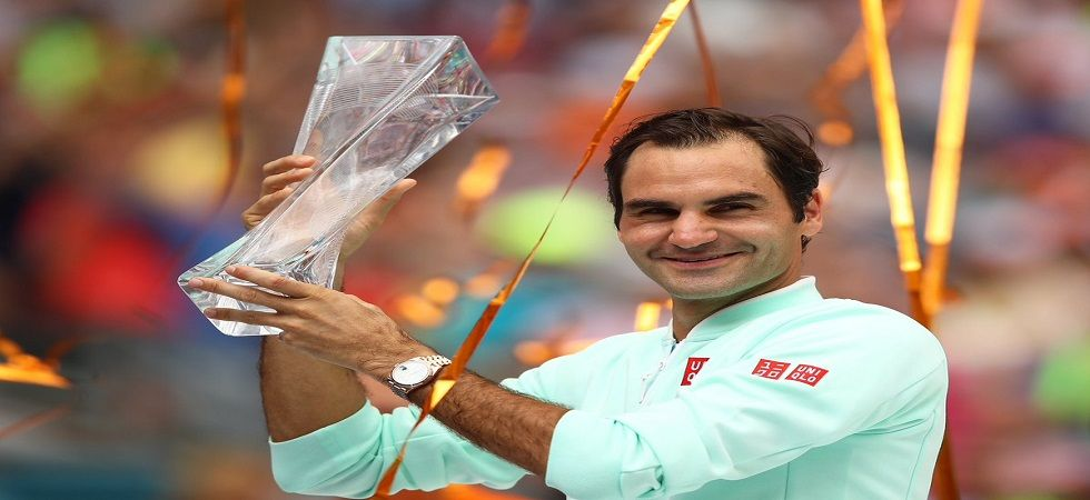 Roger Federer won his 101st ATP Tour title with a win over John Isner in the final of the Miami Open tournament. (Image credit: Twitter)