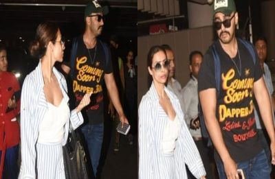SPOTTED: Malaika Arora and Arjun Kapoor's vacation in Maldives comes to an end, return to Mumbai