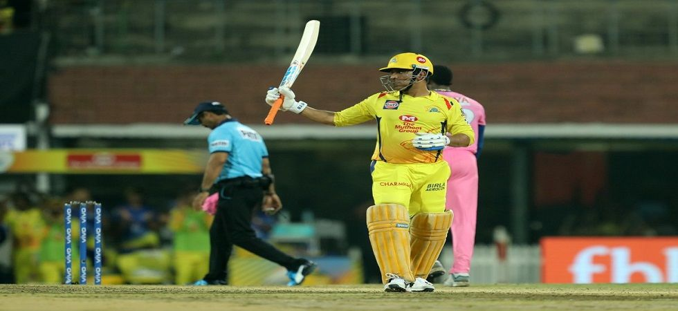 MS Dhoni was the Man of the Match for his unbeaten 75 as Chennai Super Kings clinched a narrow eight-run win against Rajasthan Royals. (Image credit: Twitter)