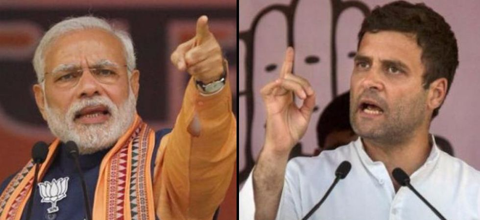 PM Narendra Modi (Left), Congress chief Rahul Gandhi (Right)