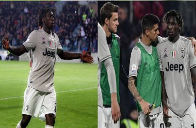 Moise Kean faces racist abuse during Serie A game against Cagliari