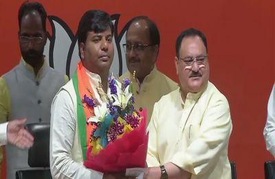 Praveen Kumar Nishad, Samajwadi Party MP from Gorakhpur, joins BJP