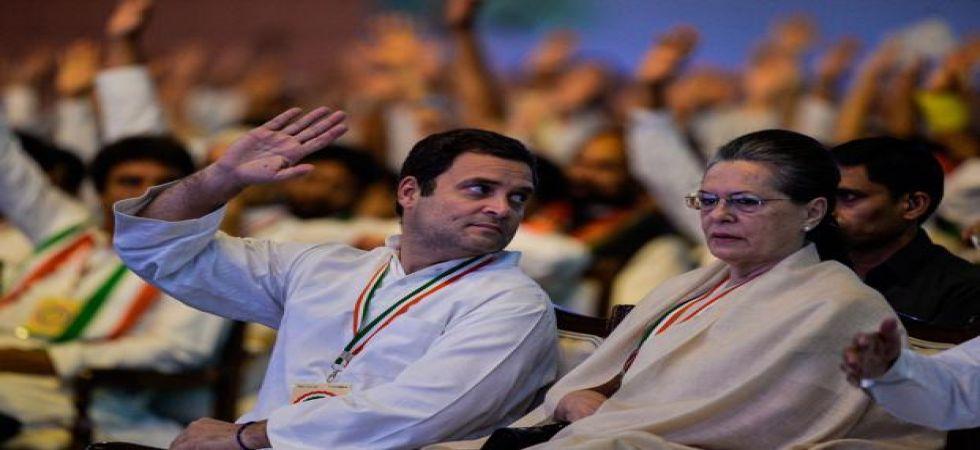 Congress president Rahul Gandhi with mother Sonia Gandhi (File Photo)