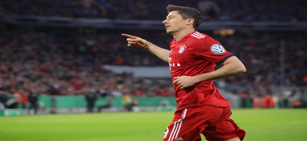 Robert Lewandowski scored a crucial goal as Bayern Munich progressed in the German Cup with a 5-4 win against Heidenheim. (Image credit: Twitter)