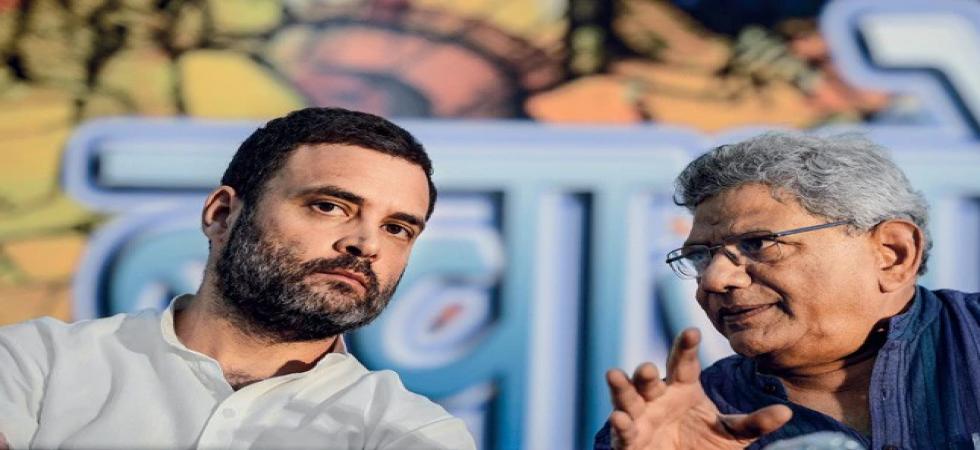 Congress president Rahul Gandhi and CPM General Secretary Sitaram Yechuri (File Photo)