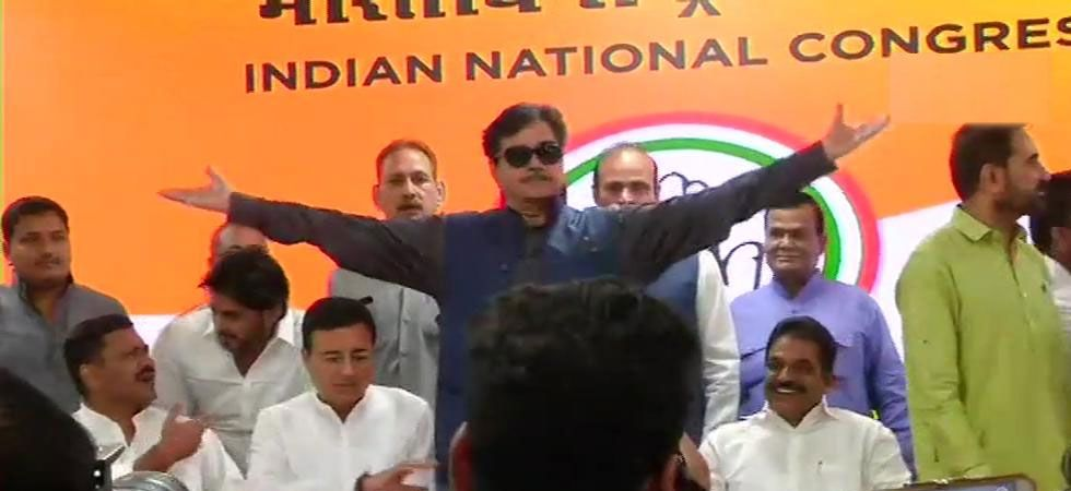 Shatrughan Sinha quit BJP on its foundation day to join the Congress party. (ANI Photo)