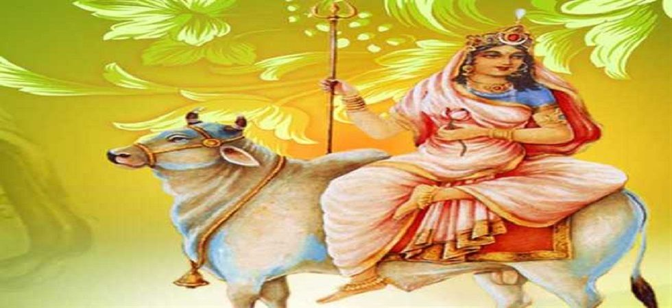 "Goddess Durga was born into the house of the King of Mountains --- Parvat Raj Himalaya --- so she is called ""Shailaputri"" means the daughter of mountain. She is also known as Hemavati and Parvati."