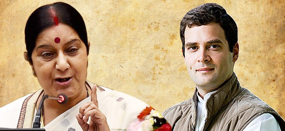 "Sushma Swaraj on Saturday asked the Congress president Rahul Gandhi to maintain ""some decorum"" in his comments meted out to BJP veteran L K Advani"