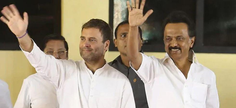 Congress president Rahul Gandhi along with MK Stalin (Image: MK Stalin)