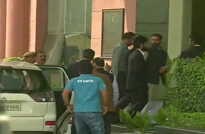 Mirwaiz Umar Farooq reaches NIA headquarters in New Delhi, urges people to maintain peace