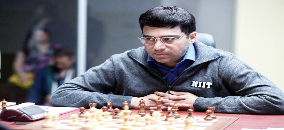 Viswanathan Anand stayed in third place in the Shamkir Chess tournament with Magnus Carlsen in the sole lead. (Image credit: Twitter)