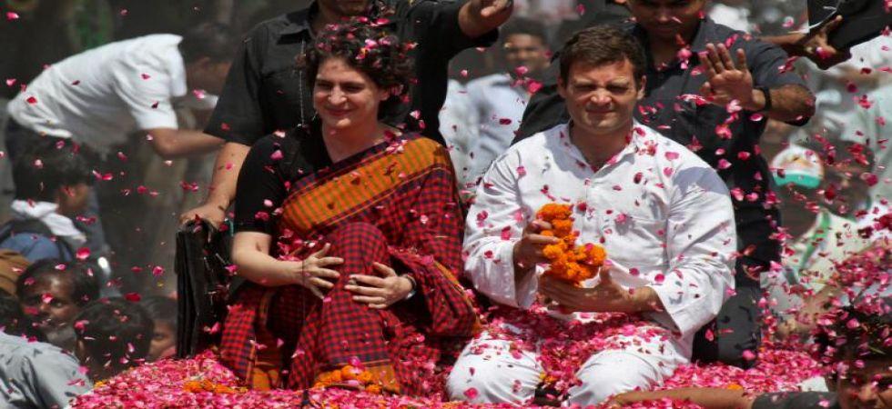 Congress president Rahul Gandhi with sister Priyanka Gandhi (File Photo)