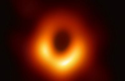 Astronomers release first ever close-up image of a black hole