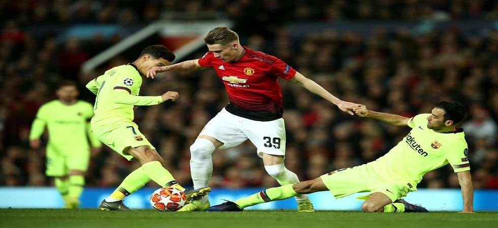 Manchester United face an uphill task after losing 0-1 to Barcelona in the first leg of the UEFA Champions League. (Image credit: Twitter)