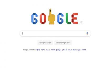 Google celebrates beginning of Lok Sabha Elections with doodle
