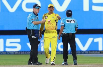 MS Dhoni's angry outburst with umpire mars Chennai Super Kings win against Rajasthan Royals