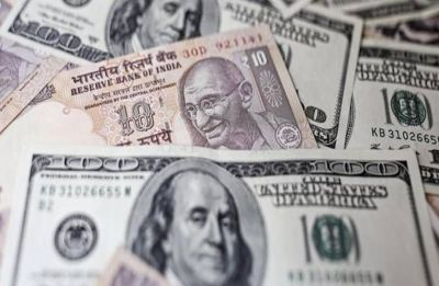 Rupee snaps 3-day rise, slips 25 paise against dollar