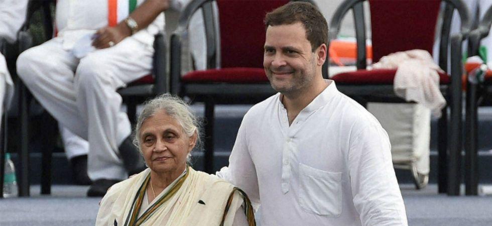 Sheila Dikshit and Rahul Gandhi (File Photo)