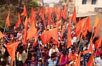 'Armed' Ram Navami rallies taken out by BJP, right-wing groups across West Bengal