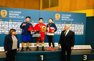 Meena Kumari wins gold in 54kg category in Cologne Boxing World Cup