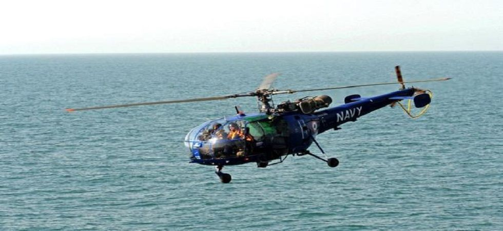 Navy's Chetak helicopter deployed on board Talwar-class frigate crashed in Gulf of Aden, major catastrophe averted